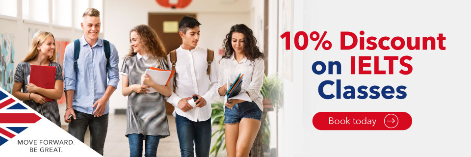 10% discount on IELTS Classes