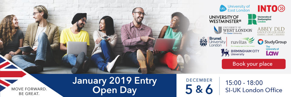 Open Day - Apply to UK Universities and start this September