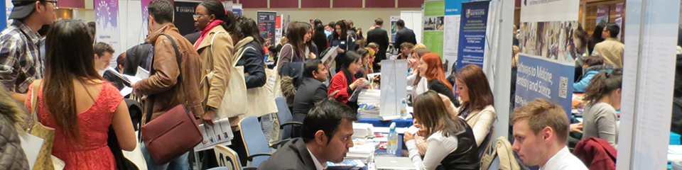 Images from the November 2018 UK London University Fair, where 100 universities attended.